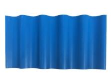 蓝色小圆波塑料瓦