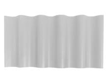 PVC白色小圆波瓦